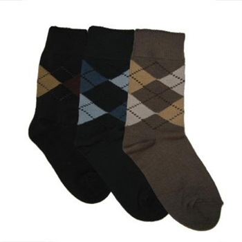Tictactoe Argyle Assortment Boys Socks 3 Pair Shop